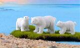 北極熊テラリウムフィギュア動物フィギュアミニチュアミニフィギュアコケリウムテラリウムキット苔リウム