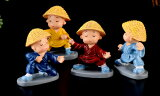 技量のお坊さん4タイプ帽子付きテラリウムフィギュア人形人間ミニチュアミニフィギュアジオラマコケリウムイベントテラリウムキット