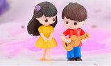 ギターカップルテラリウムフィギュア人形人間ミニチュアミニフィギュアジオラマ苔テラリウムイベントテラリウムキット