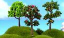 果物の木 高さ6〜7cm テラリウム フィギュア ジオラマ ...