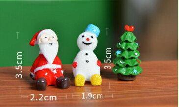 青帽子雪だるま サンタクロース クリスマスツリー[クリスマス/テラリウム/フィギュア/ハンドメイド/コケリウム〕