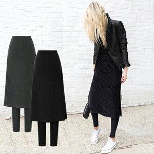 スカートレギンス 重ね着スカート 体型カバー レディース レギンス スカート ストレッチ 大きいサイズ ミモレ丈 フレア スカート付き ファッション ボトムス 裏起毛/普通 2タイプ 防寒対策