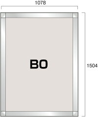 PGライトLEDスリム(屋内用)角型B0シルバー図