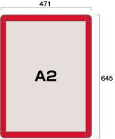 ポスターグリップ44RA2レッド(屋内用)図