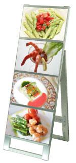 [☆☆☆☆]カードケーススタンド看板A4横4片面【中古...