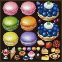シール マカロン タルトケーキ 装飾 デコレーションシール チョークアート 窓ガラス 黒板 看板 POP ステッカー (最低購入数量3枚〜)