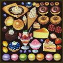 シール ドーナツ クレープ アイスデザート 装飾 デコレーションシール チョークアート 窓ガラス 黒板 看板 POP ステッカー (最低購入数量3枚〜)