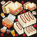 シール カツサンド サンドイッチ 装飾 デコレーションシール チョークアート 窓ガラス 黒板 看板 POP ステッカー 用