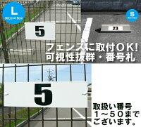 [看板]【輪留め用】駐車場用プレート・番号札(30cm×9cm)穴あけ代込/まとめ買い割引最安1枚648円