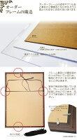 [額縁]オーダーフレームポスターパネルA5サイズ(アンティーク風/証書/額装/デッサン額/油彩額風)