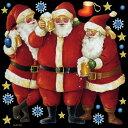 シール クリスマス サンタクロース 靴下 星マーク 雪の結晶 装飾 デコレーションシール チョークア...