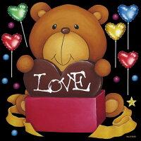 [シール]バレンタイン/チョコレート/ハートマーク/テディベア/プレゼント装飾デコレーションシール窓ガラス・黒板・看板POP用