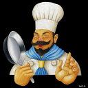 シール キャラクター シェフ コック帽 フライパン 洋食カフェ 装飾 デコレーションシール チョークアート 窓ガラス 黒板 看板 POP ステッカー 用