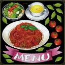 シール パスタ トマトソース コーンポタージュ サラダ menu リボン トマト 装飾 デコレーションシール チョークアート 窓ガラス 黒板 看板 POP ステッカー 用