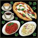シール ピザ パスタ コーヒー カフェラテ マルゲリータ トマトソース クリームソース 装飾 デコレーションシール チョークアート 窓ガラス 黒板 看板 POP ステッカー 用