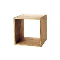 木製サイコロボックス ライトオーク色(塗装) 25cm角 547G-40170BRN