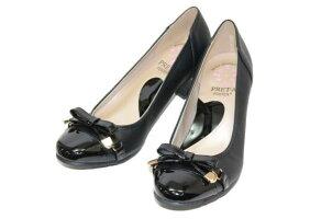 PRET-Aプレタ9565黒ソフトパンプス【靴】