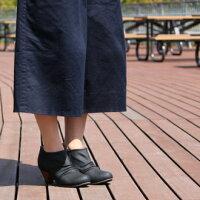 大きいサイズワイズ4E幅広甲高ブーティー25.5cm26cm26.5cm対応レディースオックスフォードプレーンブーティ歩きやすい太ヒールブーティ靴ヒール黒あったかスリッポン25.52626.508081TW