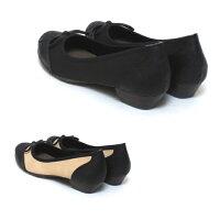 ワイズ4Eレディース靴幅広甲高大きいサイズオックスフォードパンプスカッターシューズゆったりサイズ06927TW