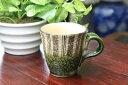 伝統工芸品の手法たたら造りで丁寧に造られてます!【秀泉窯作】【美濃焼】織部十草マグカップ