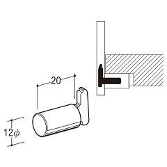 エントリーしてポイント10倍!EL柱ダボ12【ロイヤル】クロームめっきELS−12-20【10個単位で販売】