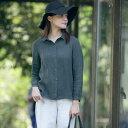 ブラウス レトロ 折り襟シャツ体型カバー大きいサイズ 長袖リネンブラウス着やせ トップス シャツ