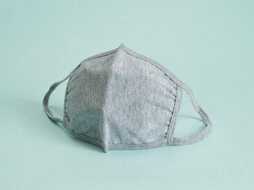 ファッション性 三層立体 布マスク 3枚組 大人用 グレー