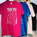 【メール便送料無料】東京 お土産 Tシャツ TOKYO MAP 外国人 人気 東京 浅草 お土産Tシャツ