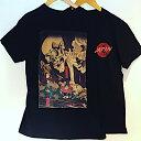 【メール便送料無料】抜染 和 和柄 日本 お土産 Tシャツ 浮世絵 髑髏 どくろ skull bones 外国人 人気 東京 浅草 スーベニア Souvenir Tshirts JAPAN TOKYO ブラック BLACK