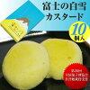 祝☆富士山の世界文化遺産☆富士山に積もったふわふわの白い雪のようなやさしい食感のカスタードケーキ【富士の白雪】(10個入り)