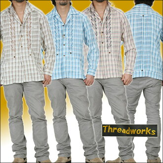 Guitar thread works embroidery shirts 4072