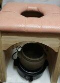 自宅黄土ヨモギ蒸し椅子セット、黄土壺