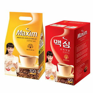 Maxim coffee mix gold 100 pieces ■ Korea food ■ Korea cuisine and Korea food materials / coffee / Korea drinks / soft drinks / souvenir / / Korea souvenir gifts and Midyear / gift / presents / you gift