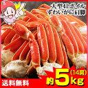 大型4Lボイル本ずわい蟹肩脚 14肩(約5kg)...