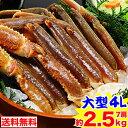 大型4L生ずわい蟹肩脚 7肩(約2.5kg)【送料無料】[生...
