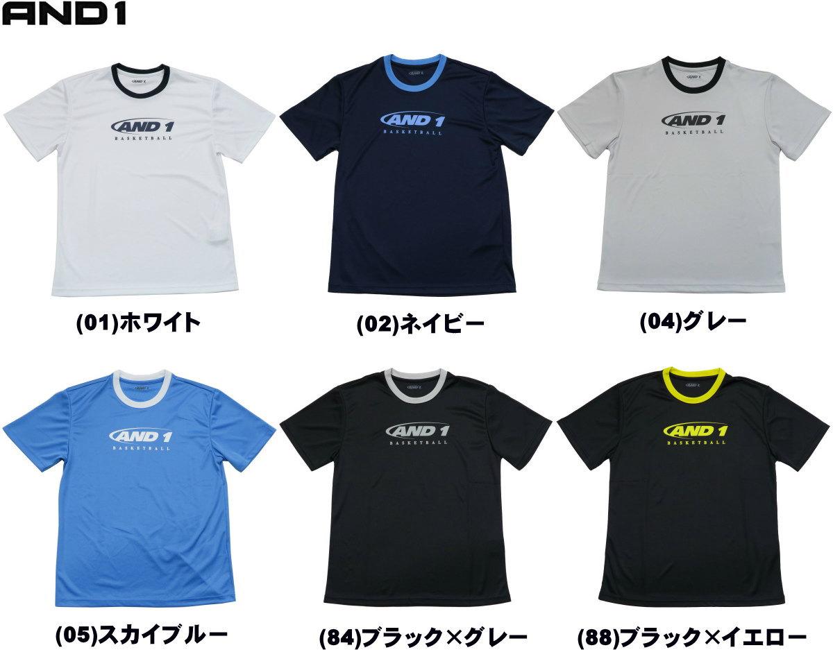《メール便無料》 アンドワン AND1 Tシャツ HOOK LOGO TEE 81101 ミニバス バスケット メール便選択で送料無料