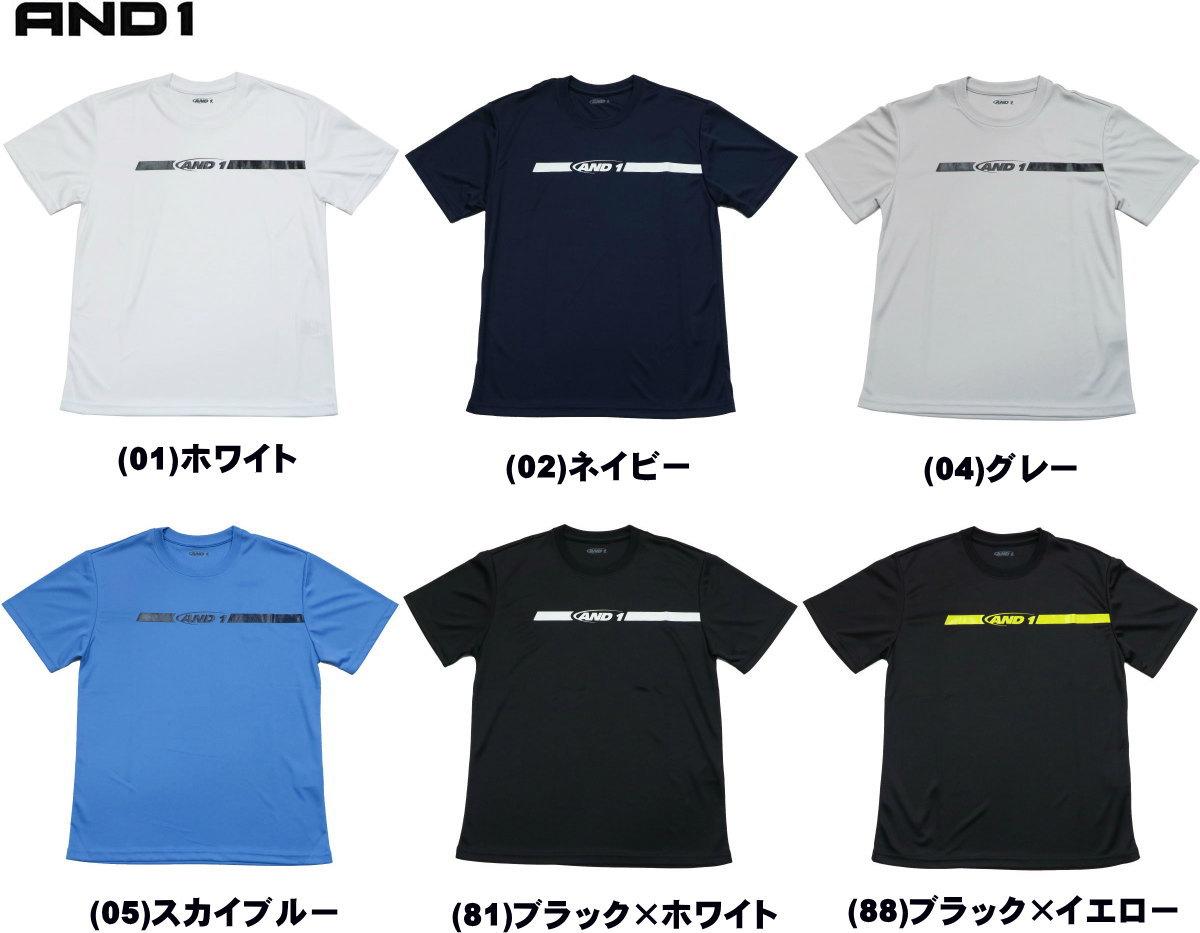 《メール便無料》 アンドワン AND1 Tシャツ HOOK LOGO LINE TEE 81105 ミニバス バスケット メール便選択で送料無料