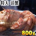 (特大サイズ) 北海道産 活毛蟹 800g前後 毛ガニの美味しさを味わうなら、未冷凍の活け活蟹。茹で ...