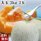 富良野メロン2.0kg2玉入りフルーツギフト