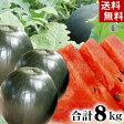 (送料無料)北海道富良野麓郷産 ろくごう小玉黒すいか 3〜5玉入りで 合計8kg前後 糖度12度の甘いスイカです。したたり落ちる果汁、冷蔵庫にも入れやすい小さい黒西瓜。旬のフルーツグルメ食品 フルーツ・果物 スイカ 小玉スイカ(ギフト お中元)
