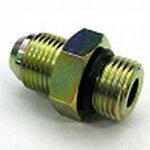 鉄製高圧継手AU13タイプ並行ユニファイオネジ(根元Oリング付)×平行ユニファイオネジ(でっぱりシート)AU13-14U12U|G7/8U×G3/4U(mm)