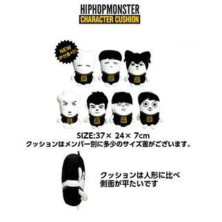 【K-POP・韓流】BTSクッション[メンバー別選択][BTSHIPHOPMONSTER公式グッズ]防弾少年団クッション(生写真)(p0001bts02)
