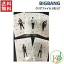 BIGBANG/クリアファイル 5枚 SET[全身]/2011BIGBANG CONCERT[BIGSHOW]公式GOODS(10002830)