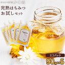 はちみつ 蜂蜜 お試しセット 90g×5個 送料無料 エコパック お取り寄せ グルメ 国産、外国産30種以上から5つ選べる!福岡県クーポン ポイント消化 買い回り蜂蜜専門店 かの蜂