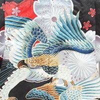「黒赤桜に鷹」七五三レンタルレンタル五歳