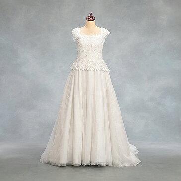 【中古】販売品 「白チュールレース」挙式用ドレス 演奏会、舞台衣装にも良品 販売 送料無料
