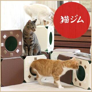 猫ジム2BOX基本セット[キャットタワーキャットトンネルキャットハウス据え置きおしゃれランド]