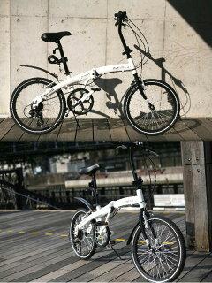 【送料無料】【代引OK】20インチ折りたたみ自転車BA-101[シマノ6段変速鍵ライト折り畳み自転車自転車MTBヴァクセンWACHSEN]