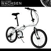 【代引OK】20インチ 折りたたみ自転車 BA-101 [ シマノ 6段変速 鍵 ライト 折り畳み自転車 自転車 MTB ヴァクセン WACHSEN ]