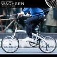 20インチ 折りたたみ自転車[6段変速 軽量 アルミフレーム WACHSEN ヴァクセン]wba-2002